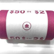 2005 side scaled 185x185 - 2005 Canada $2 Original Paper Wrap Mint Roll