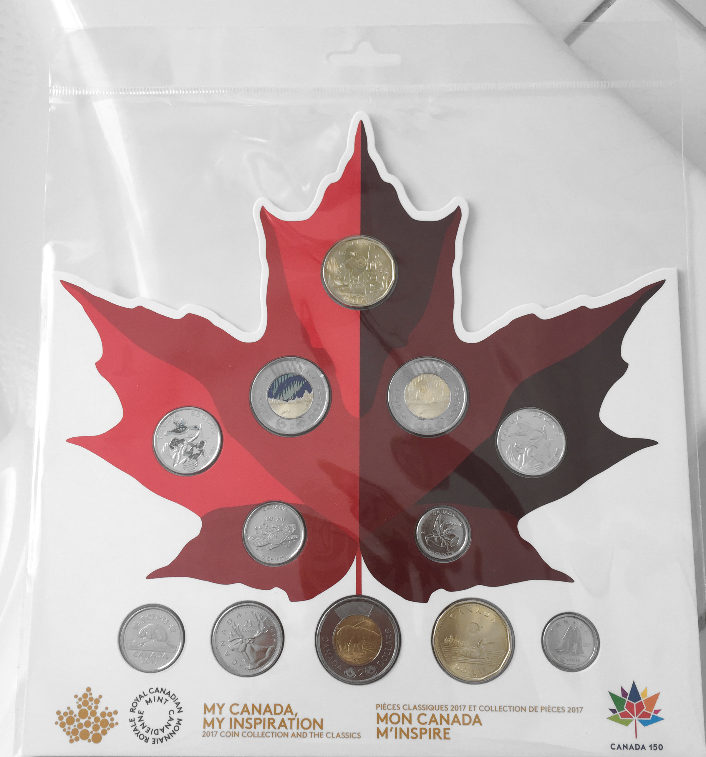 2017 Canada 150 Special Edition 1867 $2 Dollars Glow-in-the-Dark Coin from Set