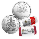 "50c rolls 150x150 - 2017 Canada ""150"" Special Wrap Roll Set 50-Cent - Canada 150 and Coat of Arms"