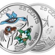 """2017 25c3 185x185 - 2017 Canada """"150"""" 25-cent-2 BU Coins (Colorized & Plain)"""