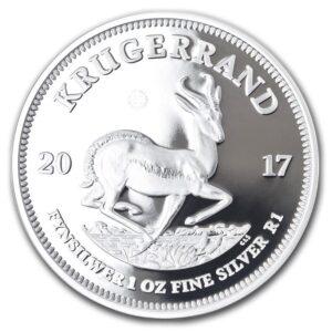 2017 PF Silver Rev 300x300 - 2017 S. Africa 1oz Silver PROOF Krugerrand GEM!