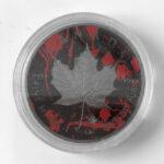 A 150x150 - 2017 $5 Canada Maple Diamond Skull Card Suite Series - 200 Mintage!