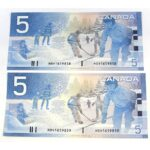 2x02 5 Jenkins Dodge 150x150 - 2002 $5 Consecutive Serial Numbers x 2 UNC Jenkins-Dodge Notes