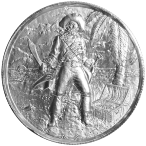 Privateer Captain 1 300x300 - Privateer Captain 2oz 0.999 Fine Silver Round - Ultra High Relief