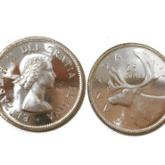1960 25c 185x185 - 1960 Canada 25-cent Ch-UNC 0.800 Silver Quarter from Mint Roll