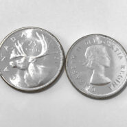 1961 25c UNCb 185x185 - 1961 Canada 25-cent Ch-UNC 0.800 Silver Quarter from Mint Roll