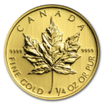 2013 MAPLE LEAF 1 4oz 0.999 FINE GOLD Front 150x150 - 2013-MAPLE-LEAF-1-4oz-0.999-FINE-GOLD-Front-150x150