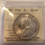 1936 1 MS65 150x150 - 1936 Canada $1 ICCS MS65