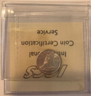 1958 R 300x314 - 1958 Canada 10-cent ICCS MS64