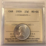 1959 MS64 150x150 - 1959 Canada 25-cent ICCS MS64