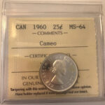 1960 MS64C 150x150 - 1960 Canada 25-cent ICCS MS64 Cameo