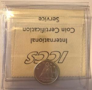 1961 R 300x296 - 1961 Canada 10-cent ICCS PL65