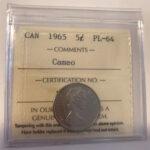 1965 PL64C 150x150 - 1965 Canada 5-cent ICCS PL64 Cameo