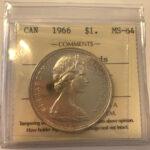 1966 1 MS64 150x150 - 1966 LB Canada $1 ICCS MS64