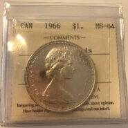 1966 1 MS64 185x185 - 1966 LB Canada $1 ICCS MS64