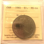 1981 1 MS64 scaled 150x150 - 1981 Canada $1 ICCS MS64