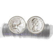 1984 185x185 - 1984 Canada 25-cent UNC Original Roll