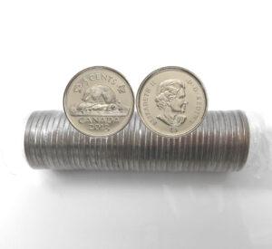 2013 5c Roll 300x275 - 2013 Canada Original Sealed Nickel 5-cent Roll
