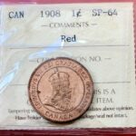 1908 1cSP64O 150x150 - 1908 Canada Large Cent ICCS SP-64 RED