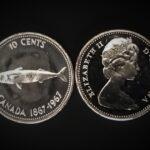 1967 dime 150x150 - 1967 Canada 10-cent Ch-UNC 0.800 Silver Mackerel Centennial Dime