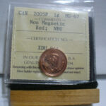 2005P 1c NonMag MS67 O 150x150 - 2005-P Canada 1-Cent Non-Magnetic Penny ICCS Graded MS67 - VERY RARE