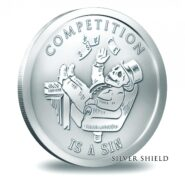 2014 Competition is a Sin 185x185 - 2014 Competition is a Sin BU Silver 1oz Round | Bankster Series