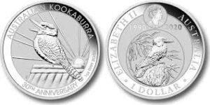 kookaburra 2020 300x150 - 2020 Australia $1 Kookaburra BU Silver 1oz 30th Anniversary Coin