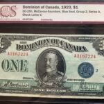 1923 1 EF40 A 150x150 - 1923 Dominion of Canada $1 McCavour-Saunders EF-40 DC-25h Blue Seal Group 2 Series
