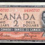 1954 2 IB VF EF A 150x150 - 1954 $2 Devils Face I/B Prefix Beattie-Coyne BC-30b VF-EF Condition