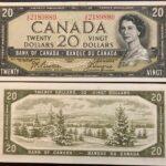 1954 20 IE UNC 150x150 - 1954 $20 I/E Prefix Beattie-Coyne BC-41a UNC Condition