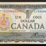 1973 1 ECR A 150x150 - 1973 $1 ECR Prefix Crow-Bouey BC-46b 2x UNC Consecutive Notes