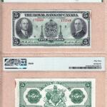 5 RBC AU53 150x150 - 1935 $5 Royal Bank of Canada AU-53 banknote - Small Signatures