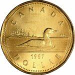 1 1987 150x150 - 1987 Canada $1 UNC Coin