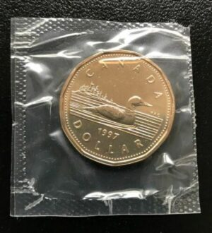 1 1997 PL 300x330 - 1997 Canada $1 Proof Like Loonie
