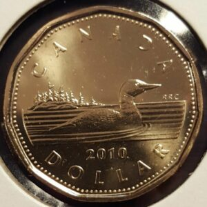 1 2010 300x300 - 2010 Canada $1 UNC Coin - Low Mintage