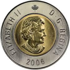 2 2006 NoL 1 - 2006 Canada $2 UNC Coin from Original Roll - No Logo