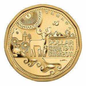 2011 Parks 300x300 - 2011 Parks Canada $1 UNC Coin